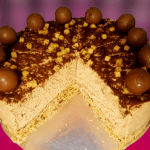 Salted caramel chocolate cheesecake with simple decoration