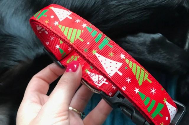 Bożonarodzeniowa obroża dla psa z aliexpress