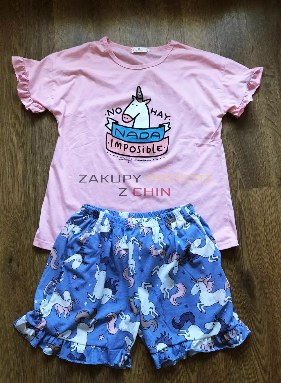 Piżama w jednorożce