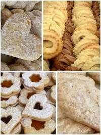 Vianočné pečivo mix druhov. Ružová cukráreň Nitra