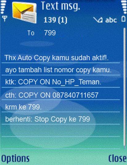 SMS Copy Telkomsel - La Ode Syamri Blog's