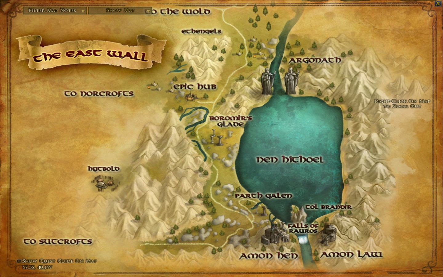 Lotr Falls Of Rauros Wallpaper Amon Law Areas Lord Of The Rings Online Zam