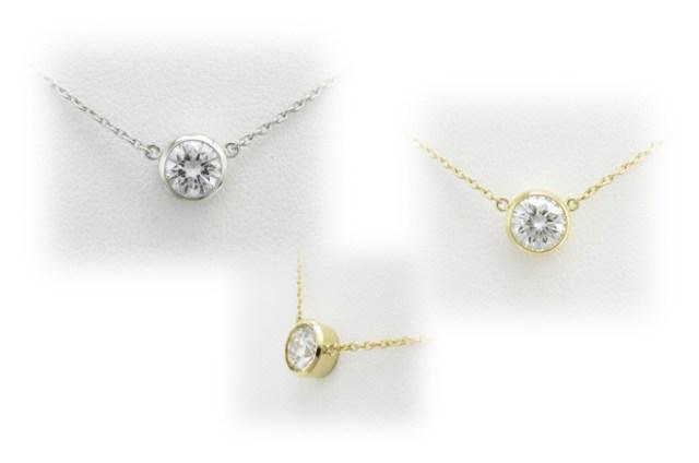 ダイヤモンドをプチネックレスへリフォーム。フクリンタイプのペンダント空枠