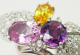 カラーストーンリング、色石、指輪