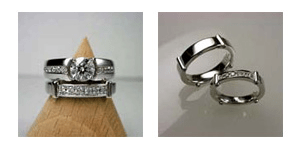 重ね付けできる婚約指輪と結婚指輪をオーダーメイドで制作