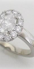 オーバルカットダイヤモンドのプラチナリングのリフォーム、口コミ、評判、レビュー