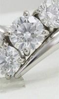 オーダーメイドで制作したプラチナのシンプルなダイヤモンドリング