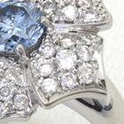 遺灰ダイヤの指輪の作り直し、ブルーダイヤのオーダーメイドリング