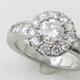 メレダイヤで取り巻いたプラチナのダイヤモンドリングへリフォーム