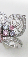 カラーダイヤの指輪のリフォーム