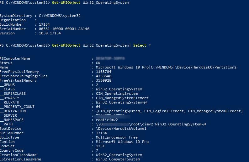 Get-WMIObject list all wmi class properties
