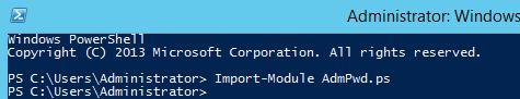 Import-module AdmPwd.ps