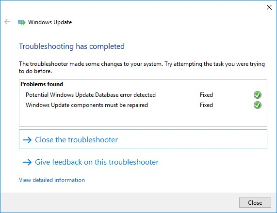 windows update troubleshooting tools - fix wndows update database corruption