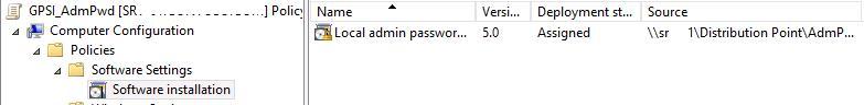 install LAPS.msi via GPO