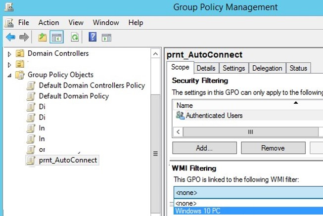 link a wmi filter to a gpo