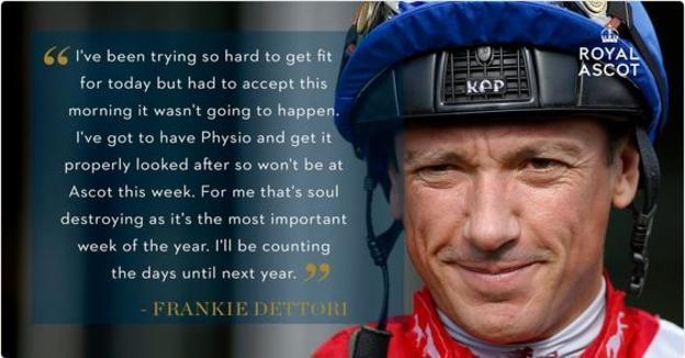 Frankie Dettori Ascot Quote