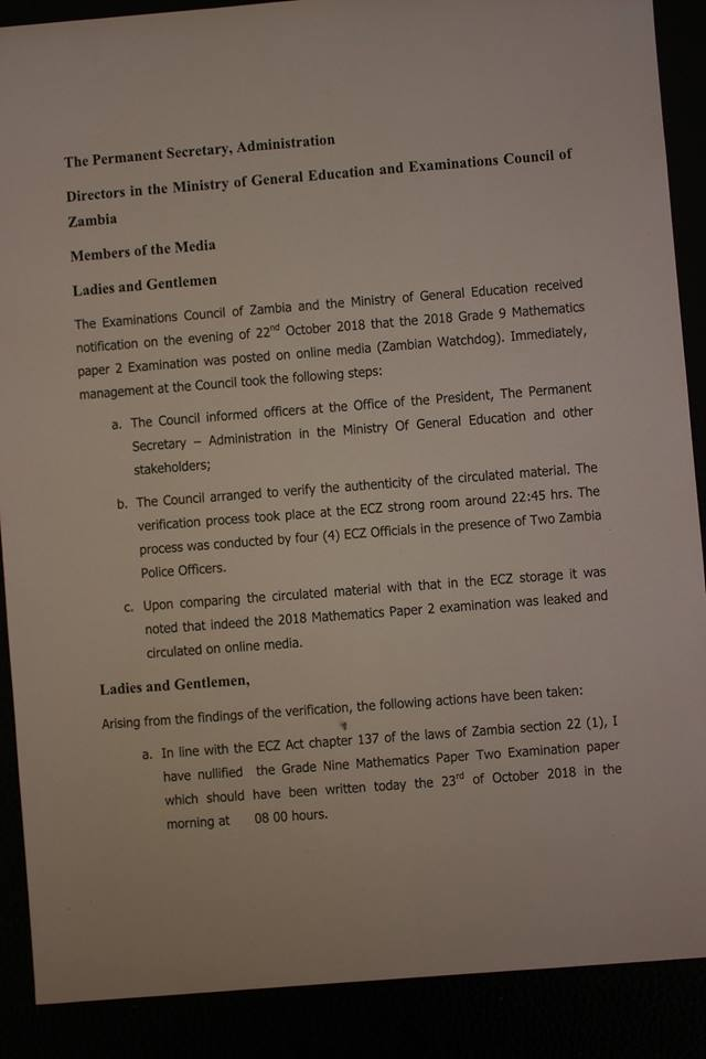 Grade 9 Maths Paper Cancelled after it was leaked