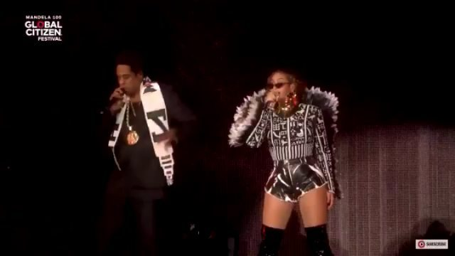 Beyonce and Jay Z's performance at #GlobalCitizenFestivalSA: Video