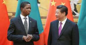 Edgar Lungu and Xi Jinping