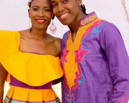 Caster Semenya and Violet