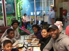 Lucas Radebe and his kids