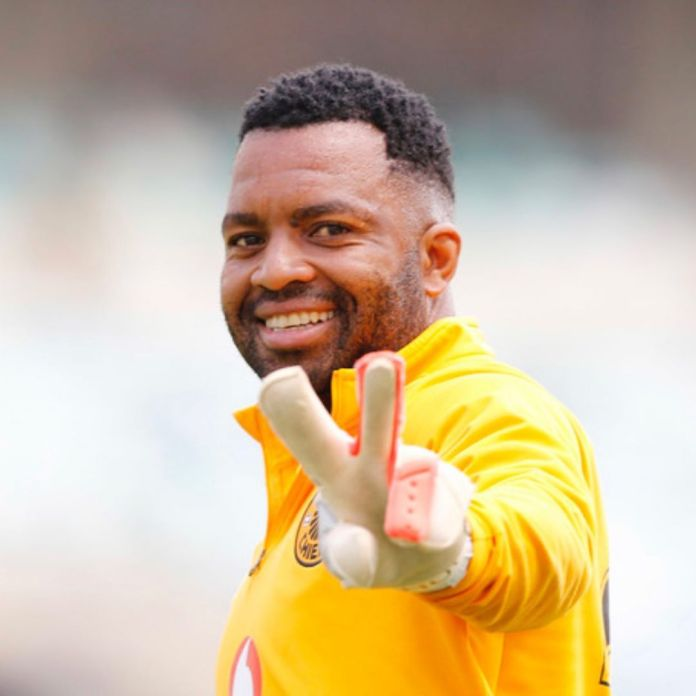 Itumeleng Khune punches a Hater