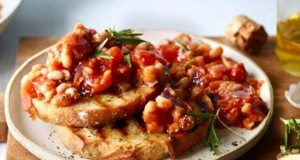 Tuscan beans on sourdough toast