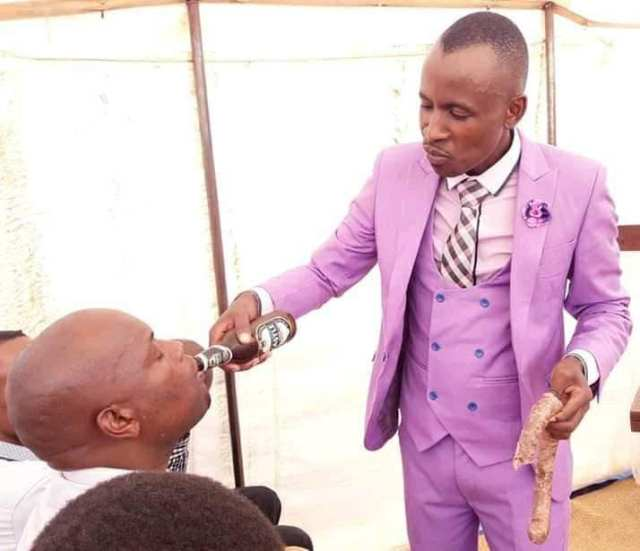 Pastor heals congregants with beer and meat 10