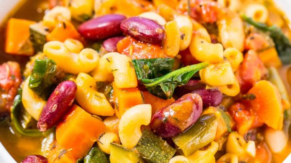 Easy minestrone soup