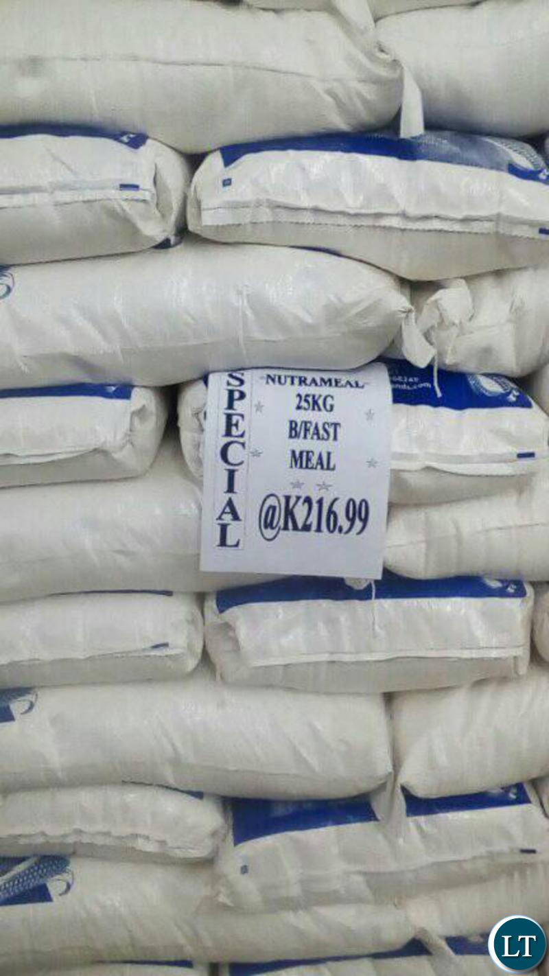 There is a price reduction in maize in the Western Province