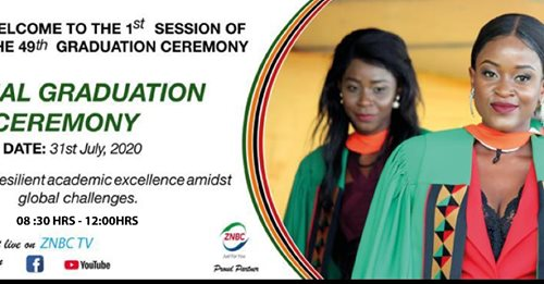 UNZA to hold 1st ever virtual graduation ceremony on Friday 31st July, 2020