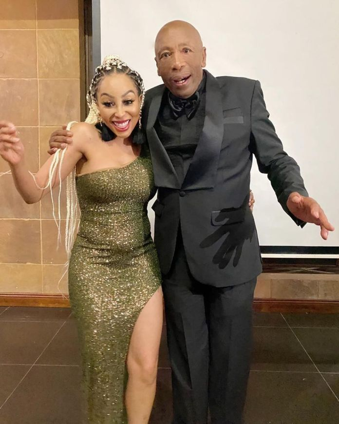 Khanyi Mbau pens a sweet note as she remembers her late father