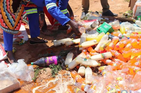 Luwingu Council destroys expired food products