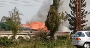 Video: Mumana Hotel in Lusaka is on fire