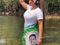Iris Kaingu shows support for PF