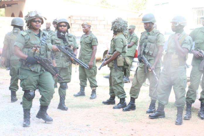 Heavenly armed police have surrounded the UPND secretariat in Fairview area
