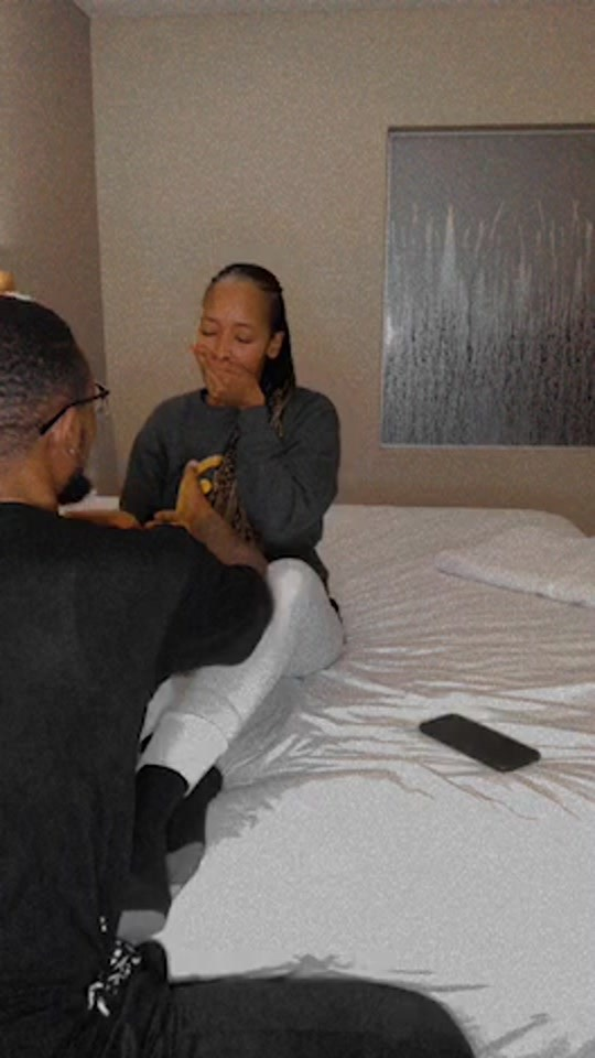 Watch: The Queen actor SK Khoza's bae blushes after meeting Connie Ferguson