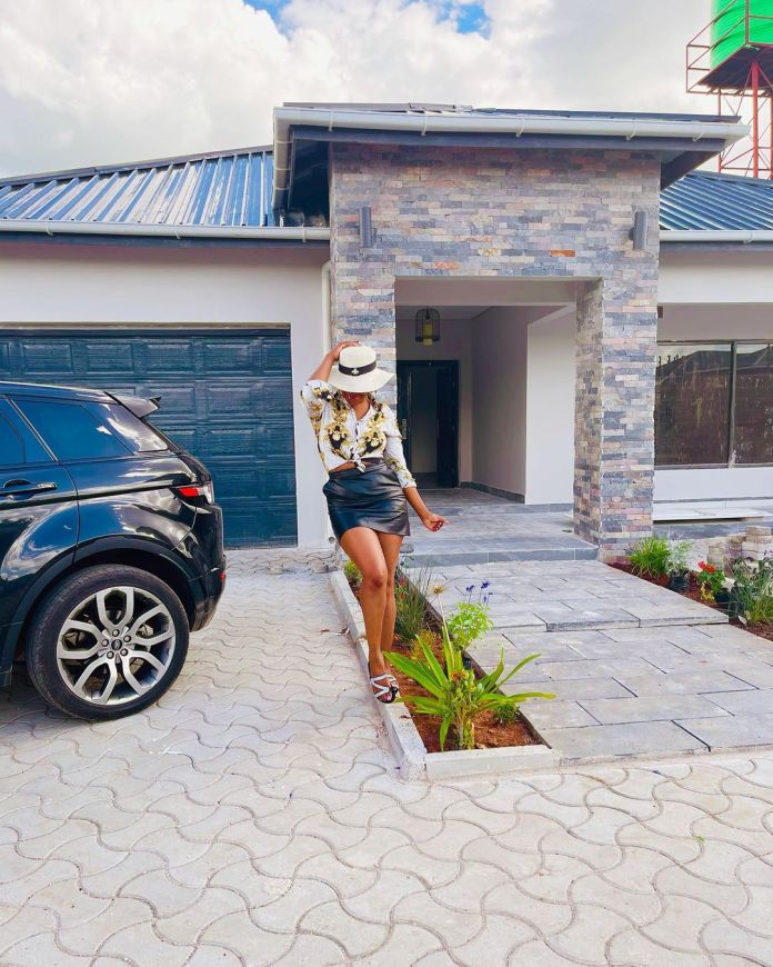 Mutale Mwanza shows off her new crib as she celebrates Jay Rox building his own house too