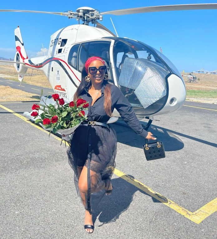 A ring on Boity's finger – Photo
