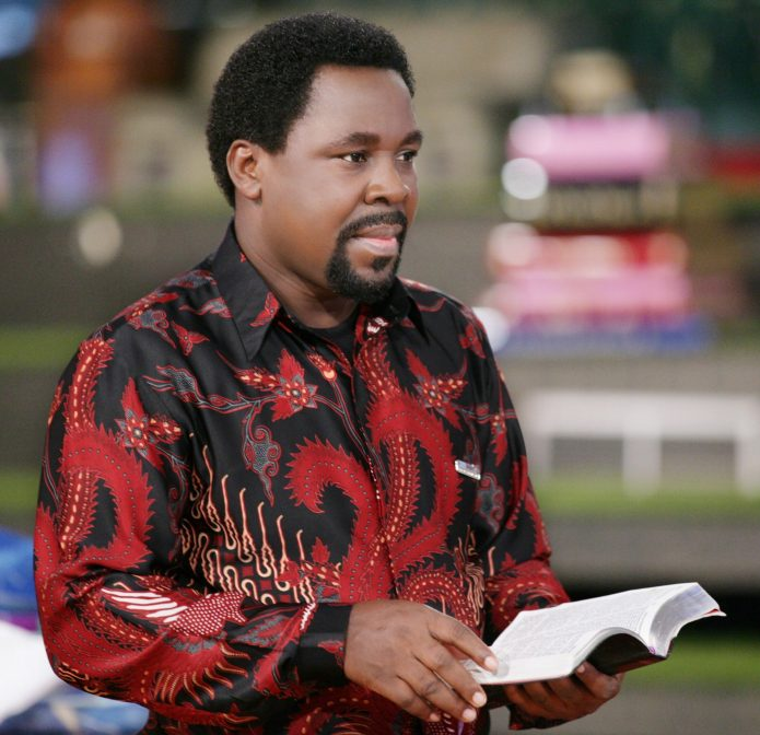 PICS: Hundreds of members gather outside Church in disbelief over death of Prophet TB Joshua