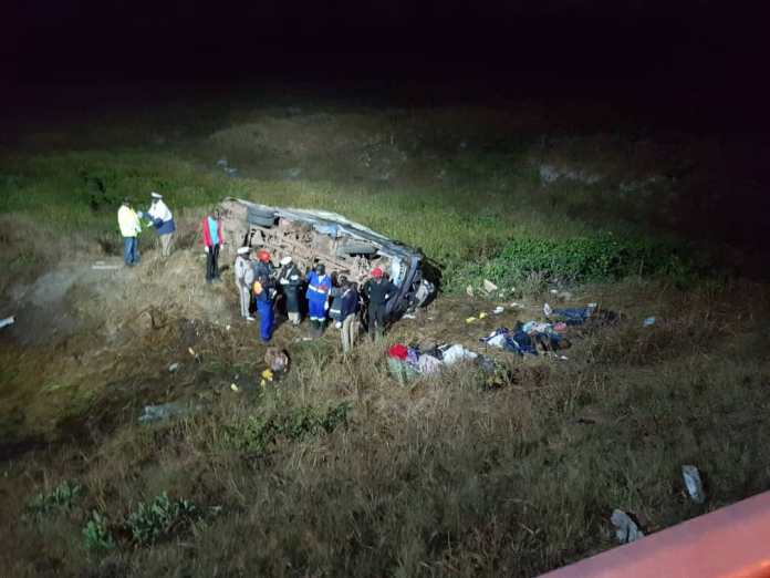 2 year-old girl in a bus accident on the Zambezi-Chavuma road