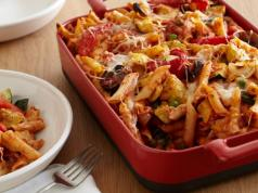 Penne with roasted vegetable