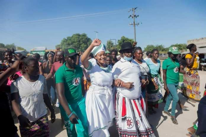 Iris Kaingu arrives in style to file her Nomination as PF candidate – Video