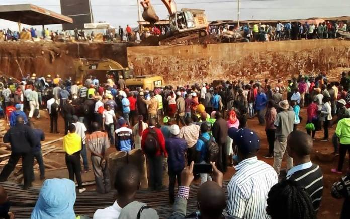 Four rescued while several people trapped after Nairobi bridge collapse