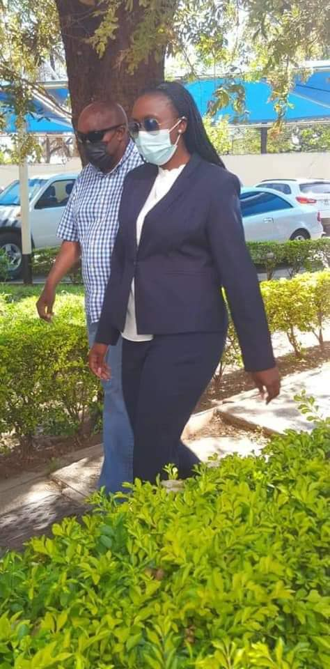 Faith Musonda arrives at Zambia Police Headquarters for questioning