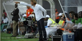 Herve Renard and Technical bench at 2010 AFCON
