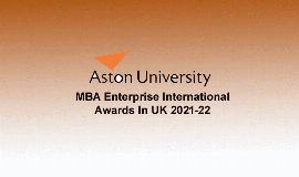 mba enterprise scholarship