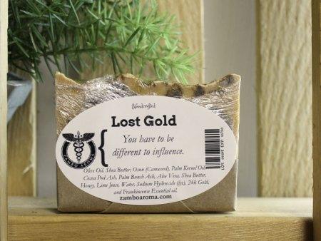 lost gold bar soap