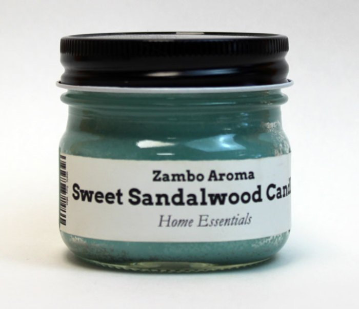 sweet sandalwood candle