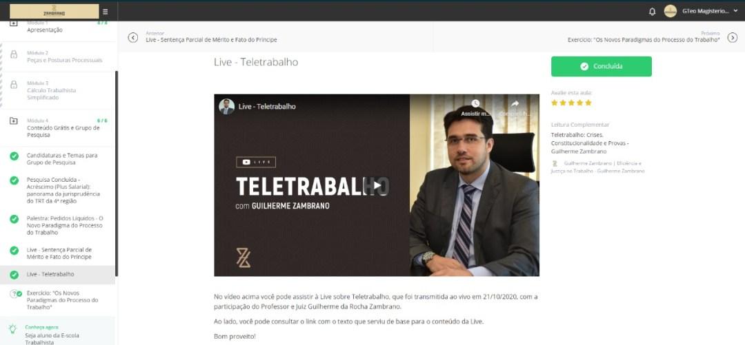 TeleTrabalho - Live - Guilherme Zambrano